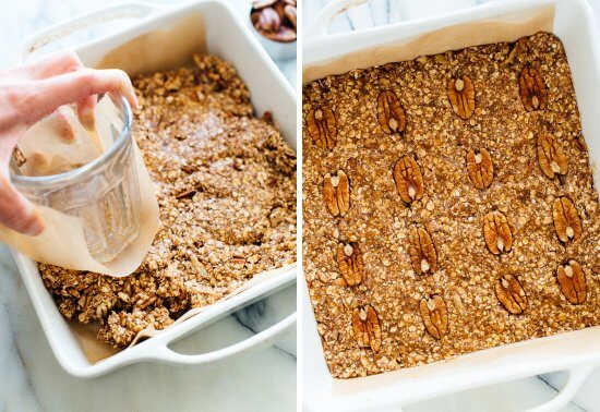 how to make pecan granola bars