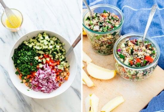bowls of quinoa salad