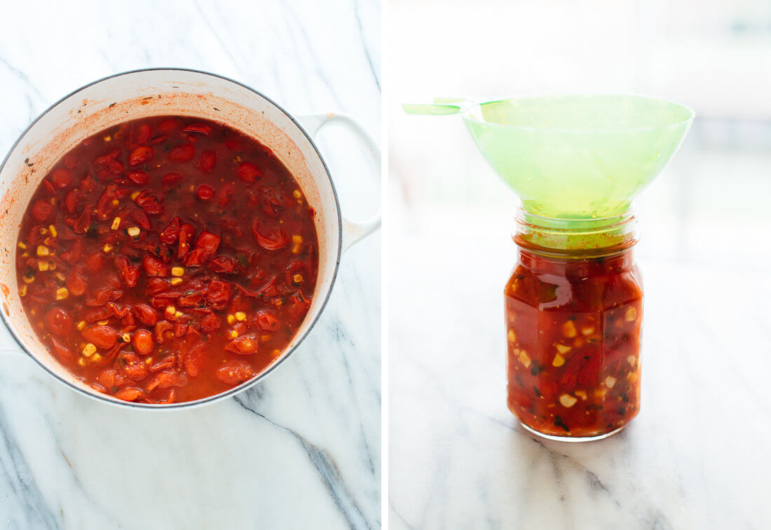 how to can cherry tomato salsa