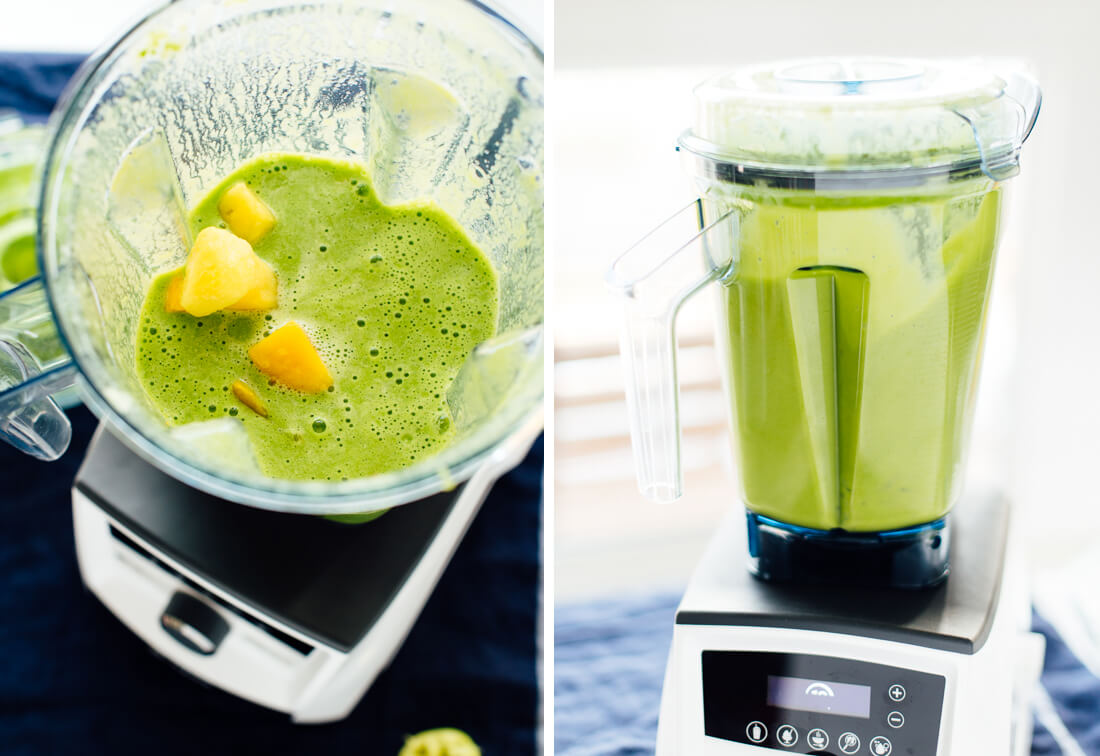how to make mango green smoothie