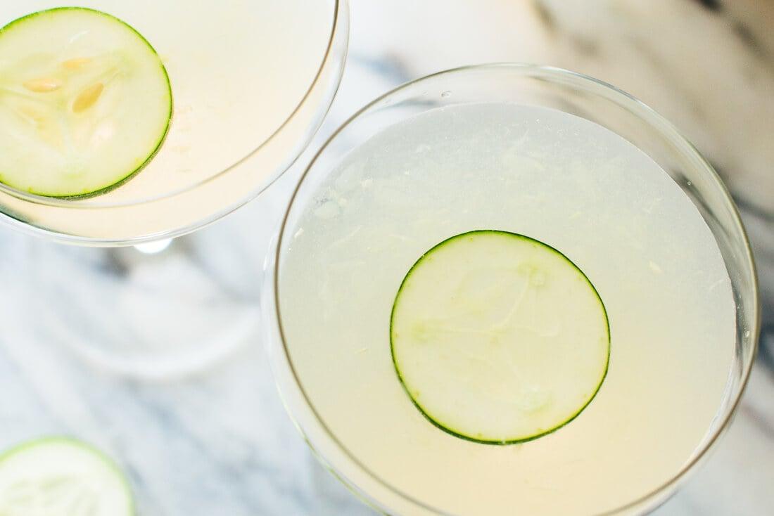 Cucumber elderflower cocktail