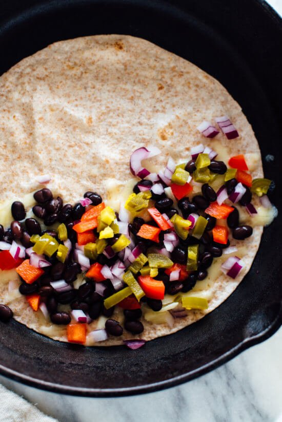 Learn how to make a quesadilla in 10 minutes! cookieandkate.com