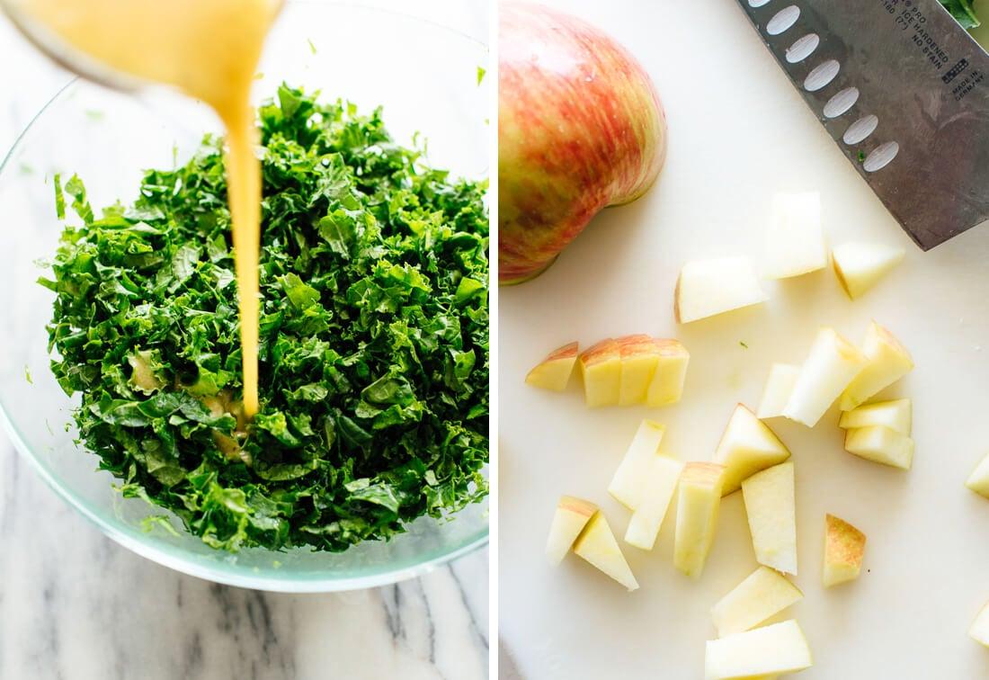 how to make kale apple salad
