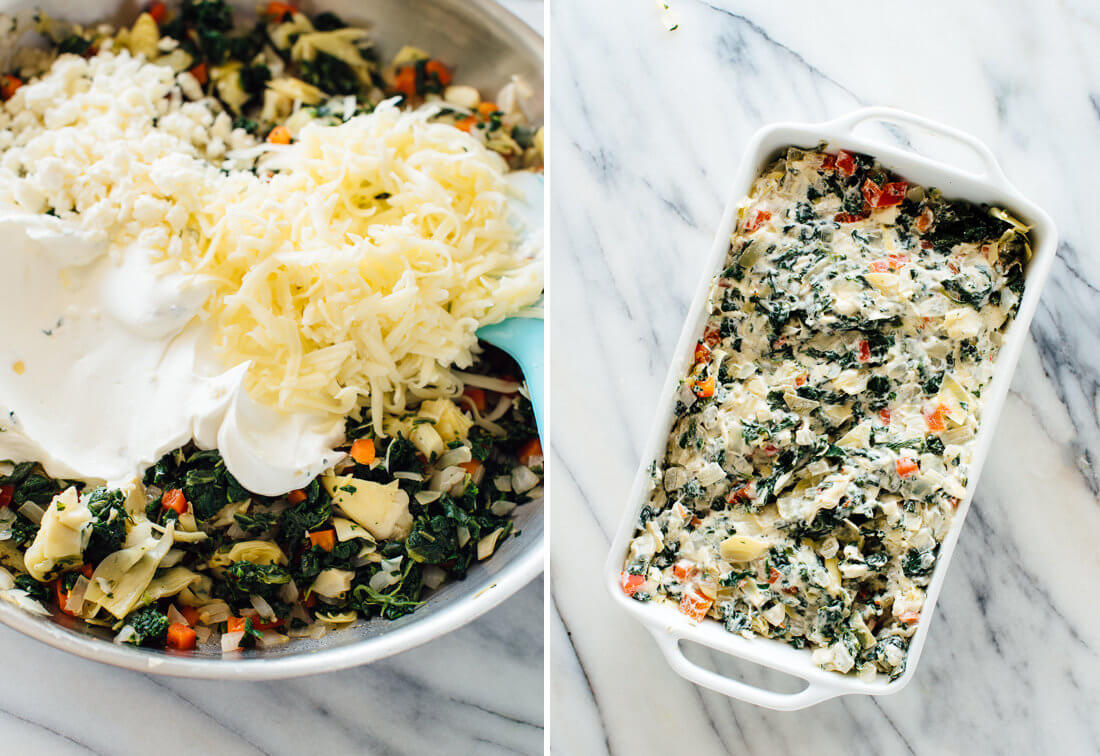 how to make spinach artichoke dip
