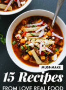 Make these delicious recipes from the vegetarian cookbook Love Real Food!