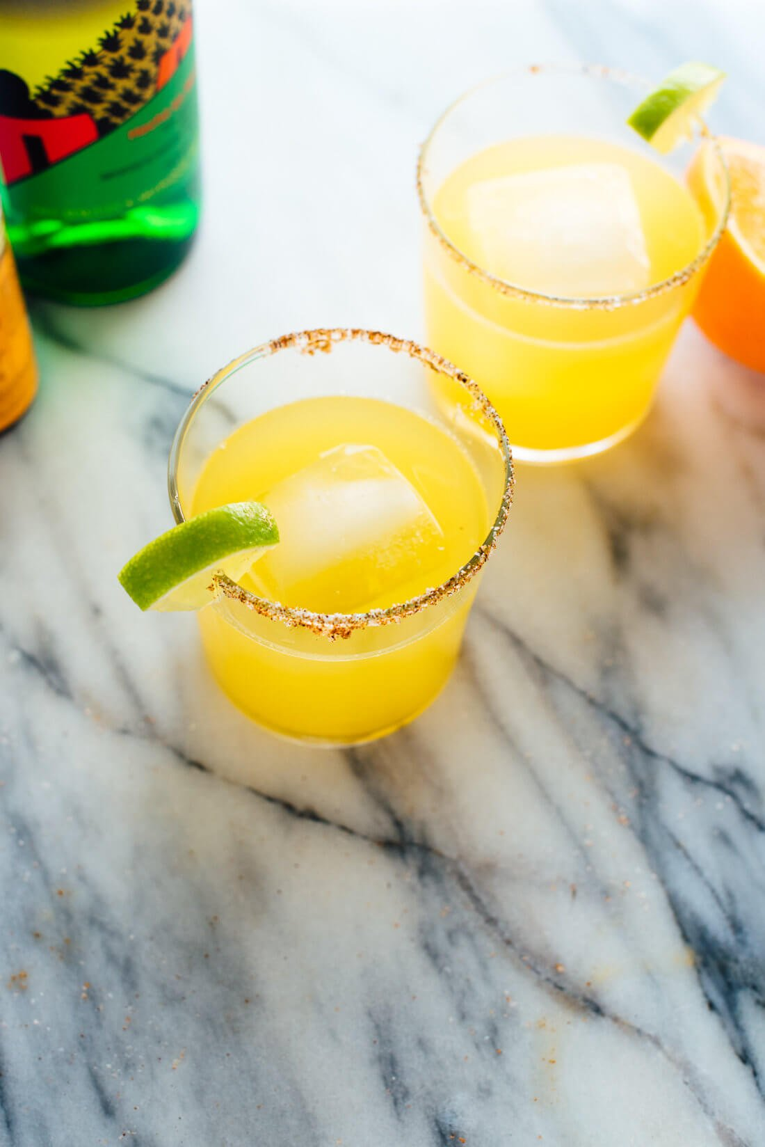 This mezcalita recipe is made with fresh orange juice, lime juice, and of course, mezcal! Get this #cocktail recipe at cookieandkate.com