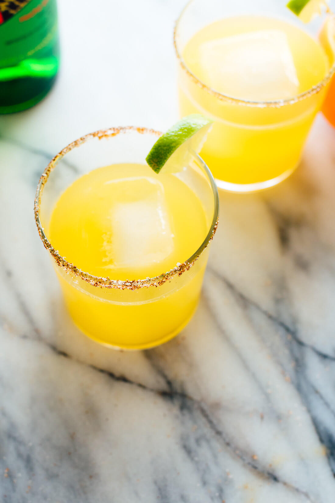 Delicious, fresh mezcalita recipe made with fresh orange and lime juices! Get this #cocktail #recipe at cookieandkate.com