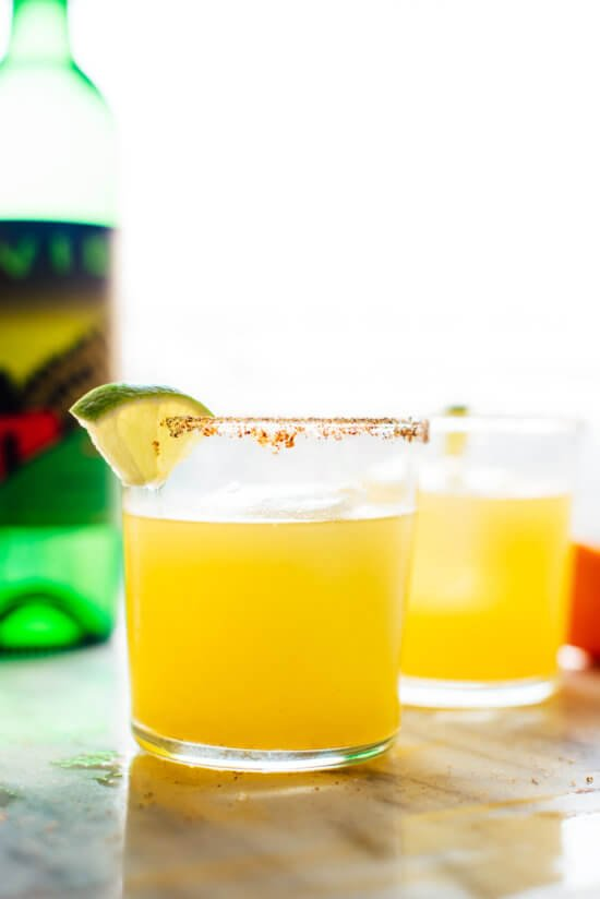 Learn how to make mezcalitas at home with mezcal, fresh orange and lime juice! Get the recipe at cookieandkate.com