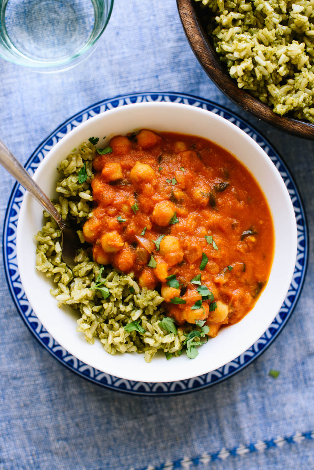 Chickpea Tikka Masala with Green Rice