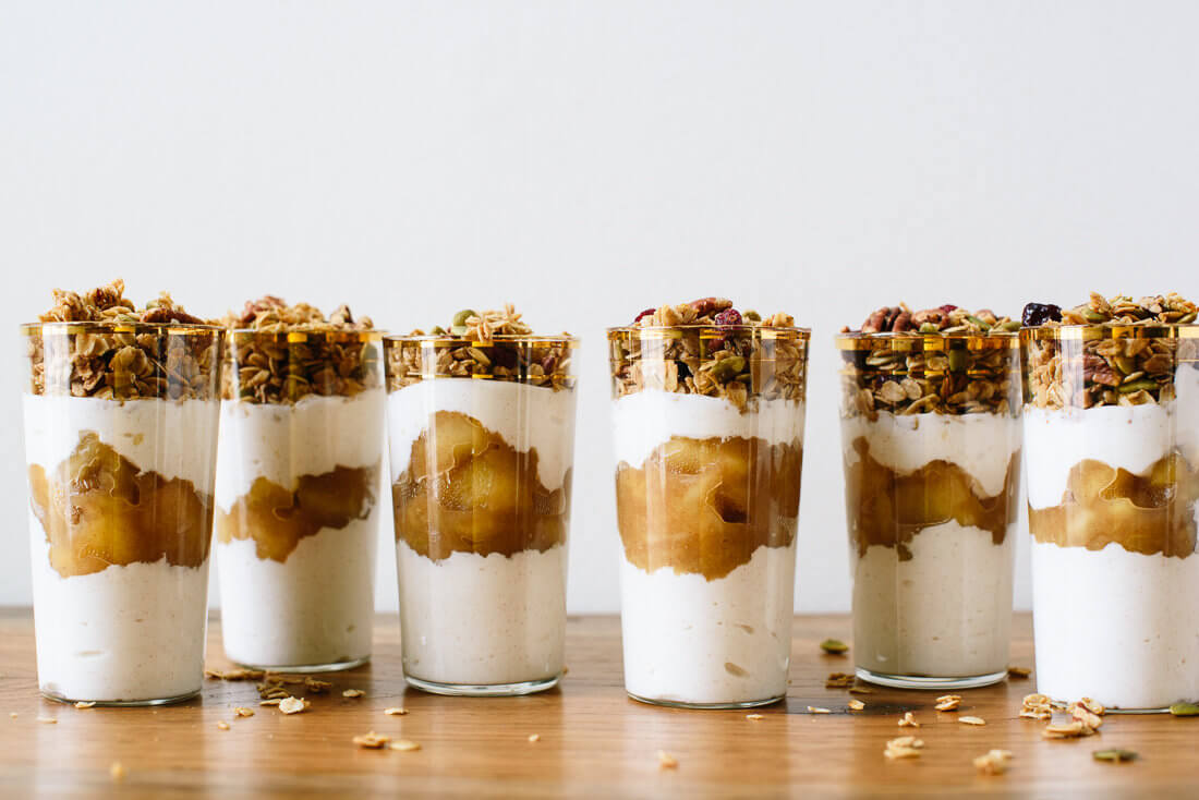 Apple Crisp Breakfast Parfaits