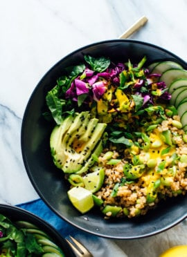 The Ultimate Buddha Bowl Recipe Featuring Cooked Brown Rice Steamed And Raw Veggies