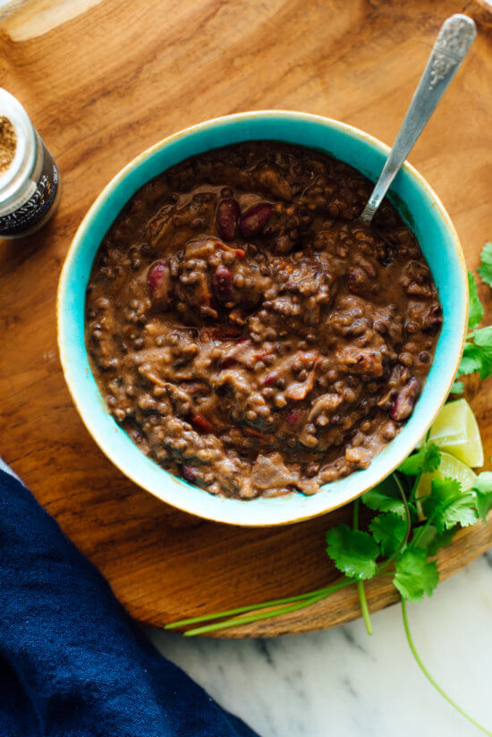 This dal makhani recipe is rich, hearty and warming like traditional dal makhani, but ready in under 1 hour.