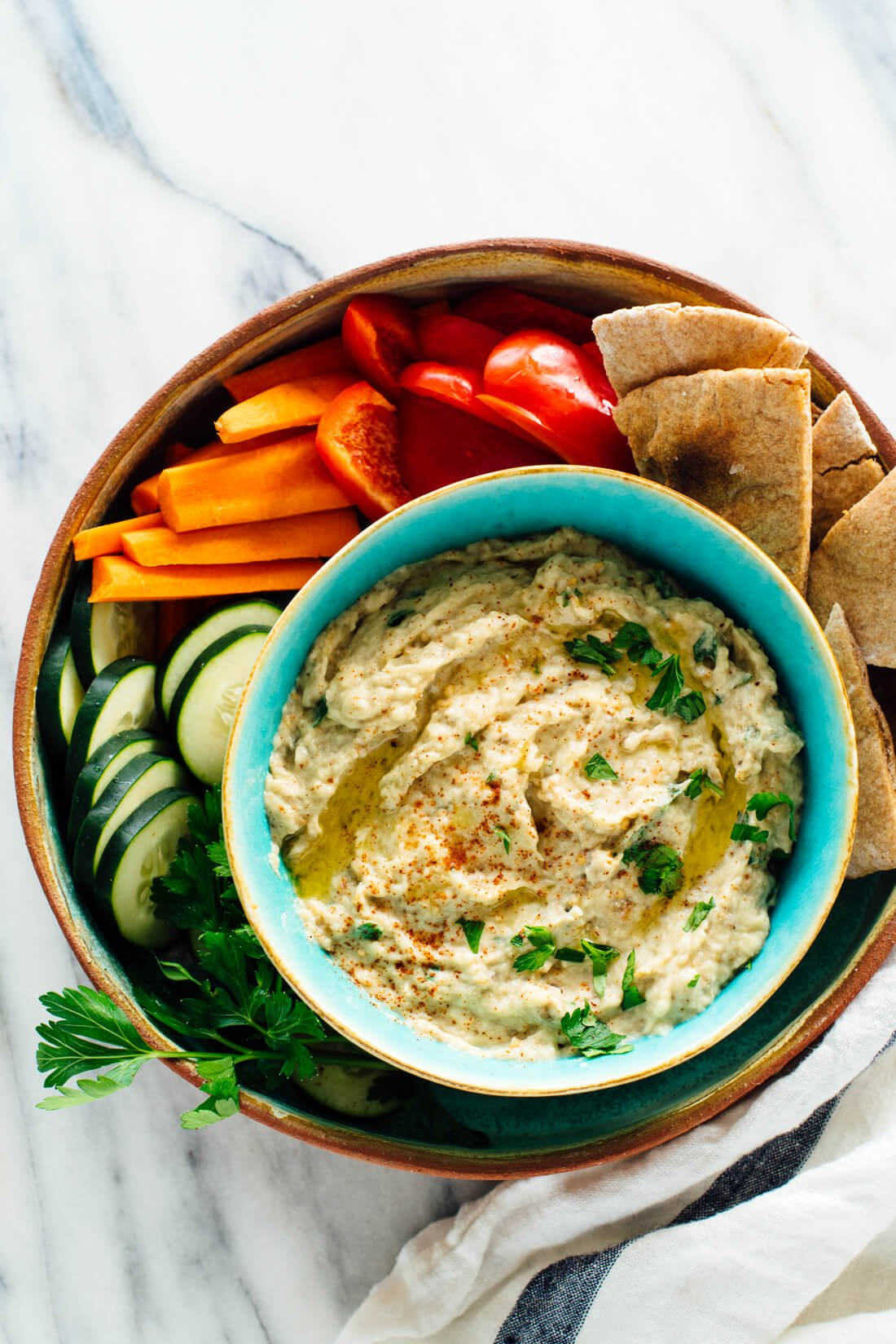 This easy baba ganoush recipe tastes amazing!
