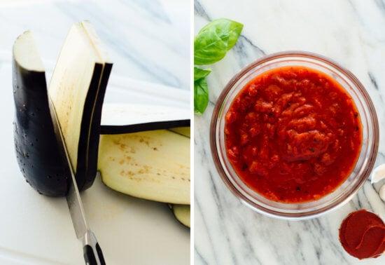 eggplant Parmesan ingredients