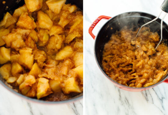 how to make chunky applesauce