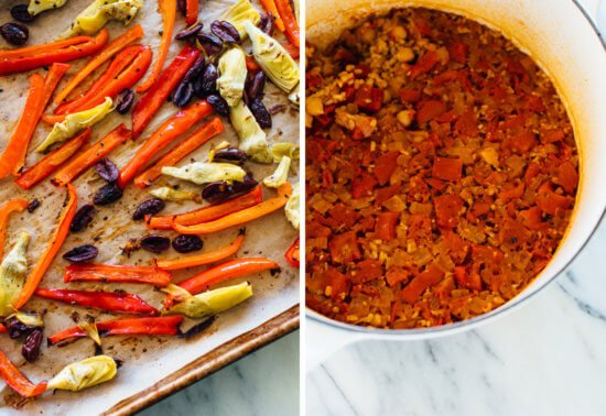 how to make vegetable paella