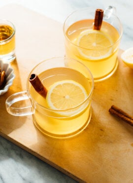 classic hot toddy with ingredients displayed