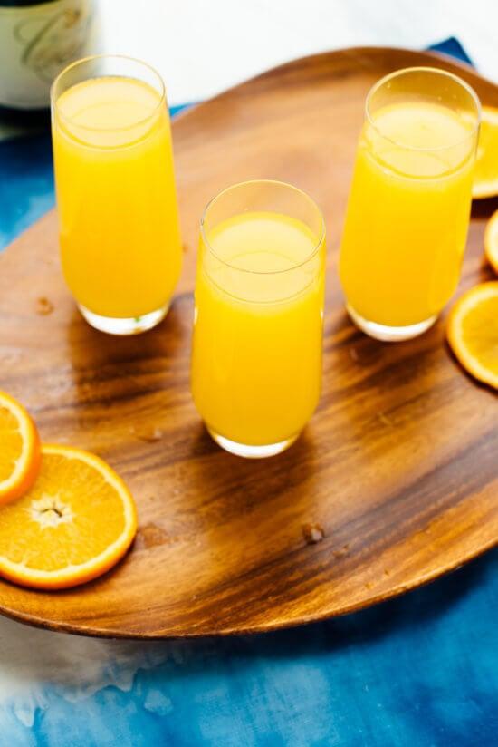 classic mimosas recipe with orange juice