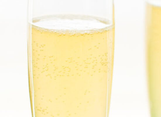 Bubbly French 75 cocktails are the perfect holiday sipper!