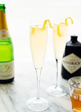 Classic French 75 Cocktail