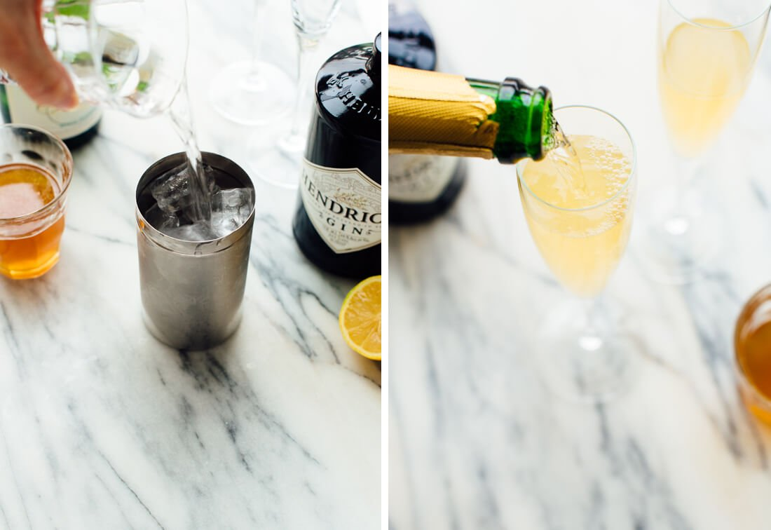 how to make French 75 cocktails