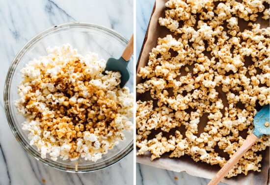 how to make sesame caramel popcorn