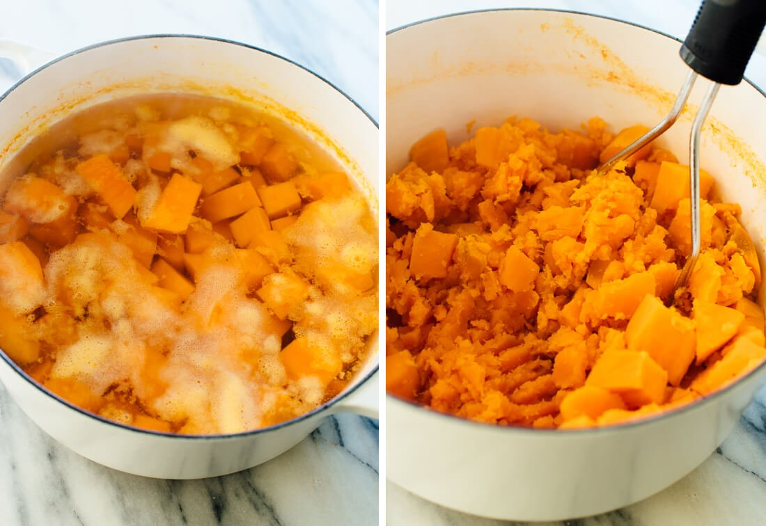how to mash sweet potatoes