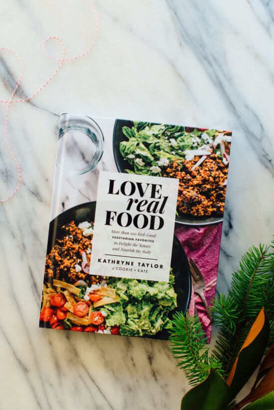 Love Real Food cookbook holiday gift guide!