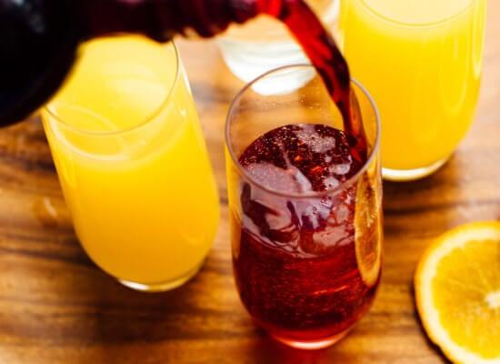 pomegranate mimosas recipe