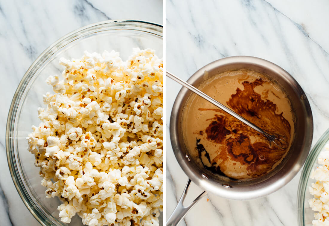 sesame caramel popcorn ingredients