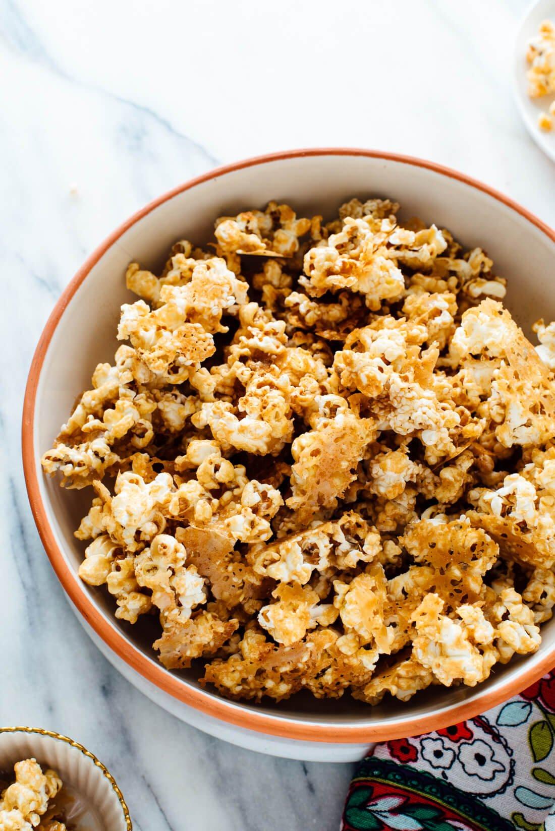 sesame caramel popcorn recipe