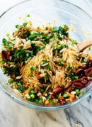Orange Orzo Salad with Almonds, Feta and Olives