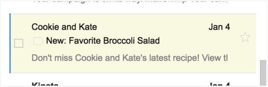 how to get Cookie and Kate posts by email