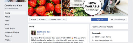 Cookie and Kate's Facebook page
