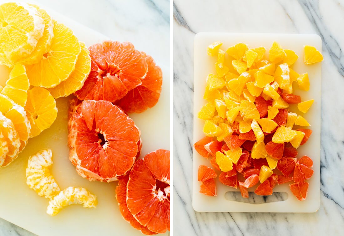 grapefruit and orange slices