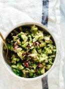 single serving of healthy broccoli salad recipe