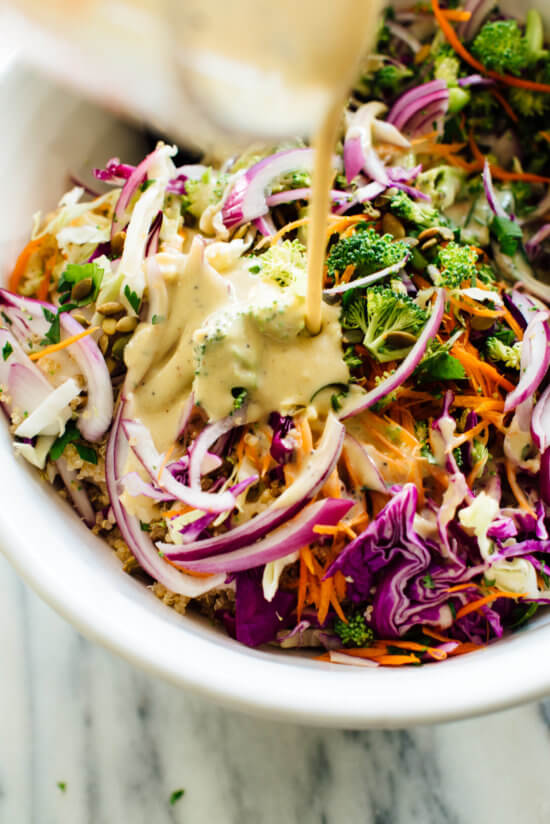 How to make quinoa slaw with honey-mustard dressing