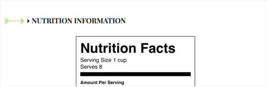 How to View Nutrition Information