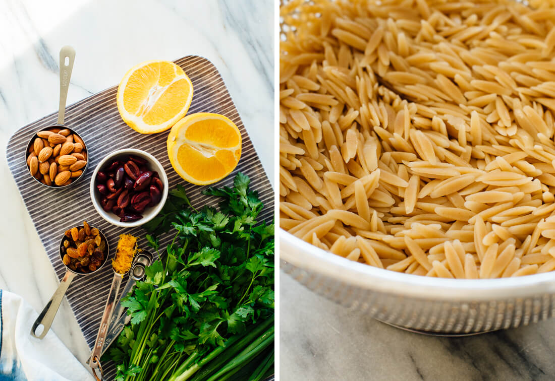 orange orzo salad ingredients