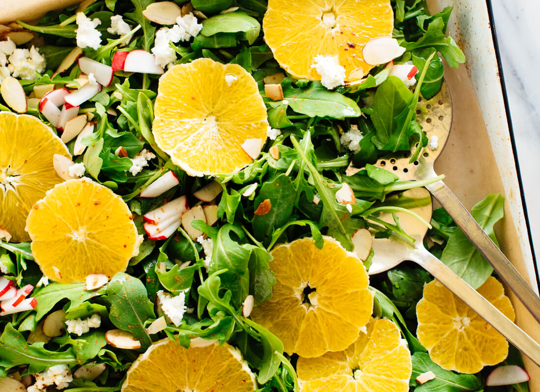 winter orange arugula salad