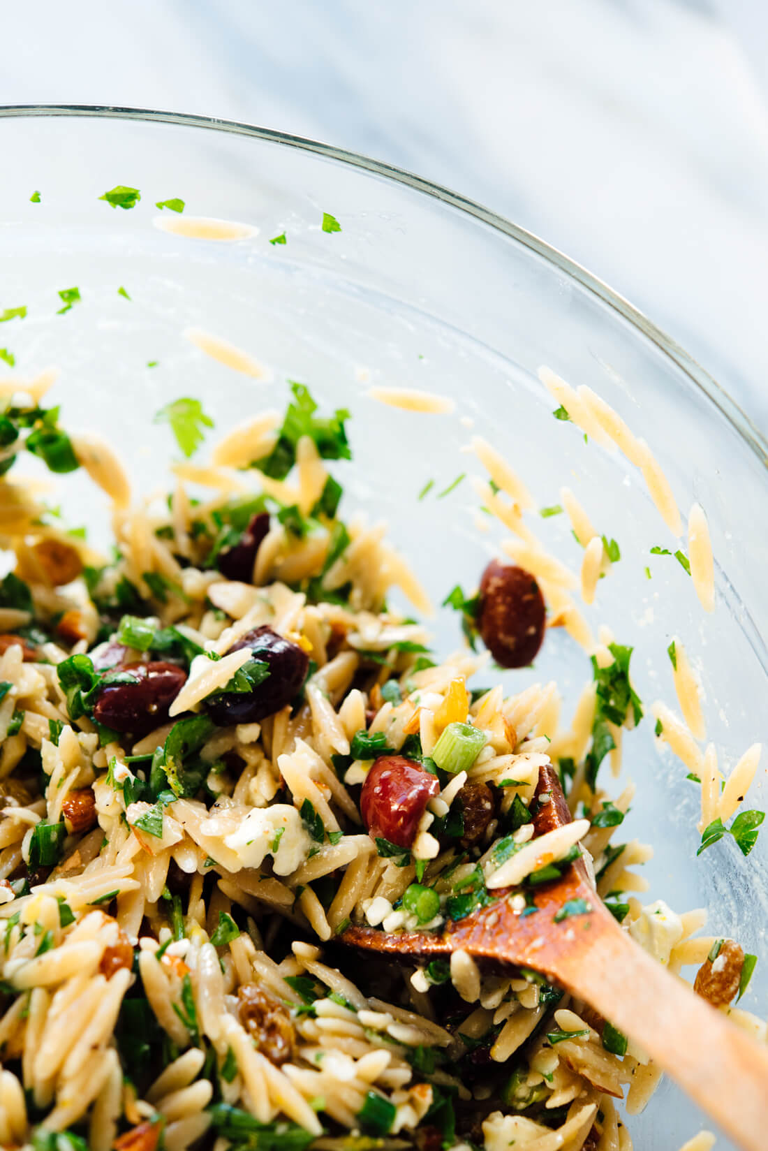 orzo salad recipe close-up