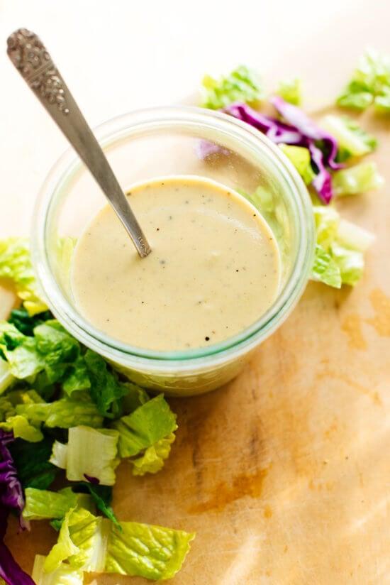 homemade yogurt honey-mustard salad dressing