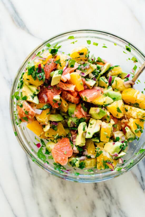 vegan citrus ceviche bowl
