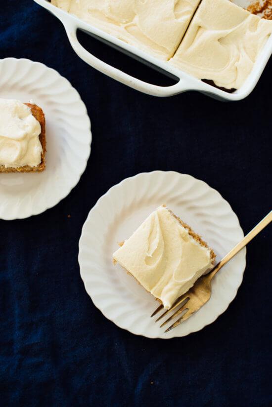 best banana cake recipe slices