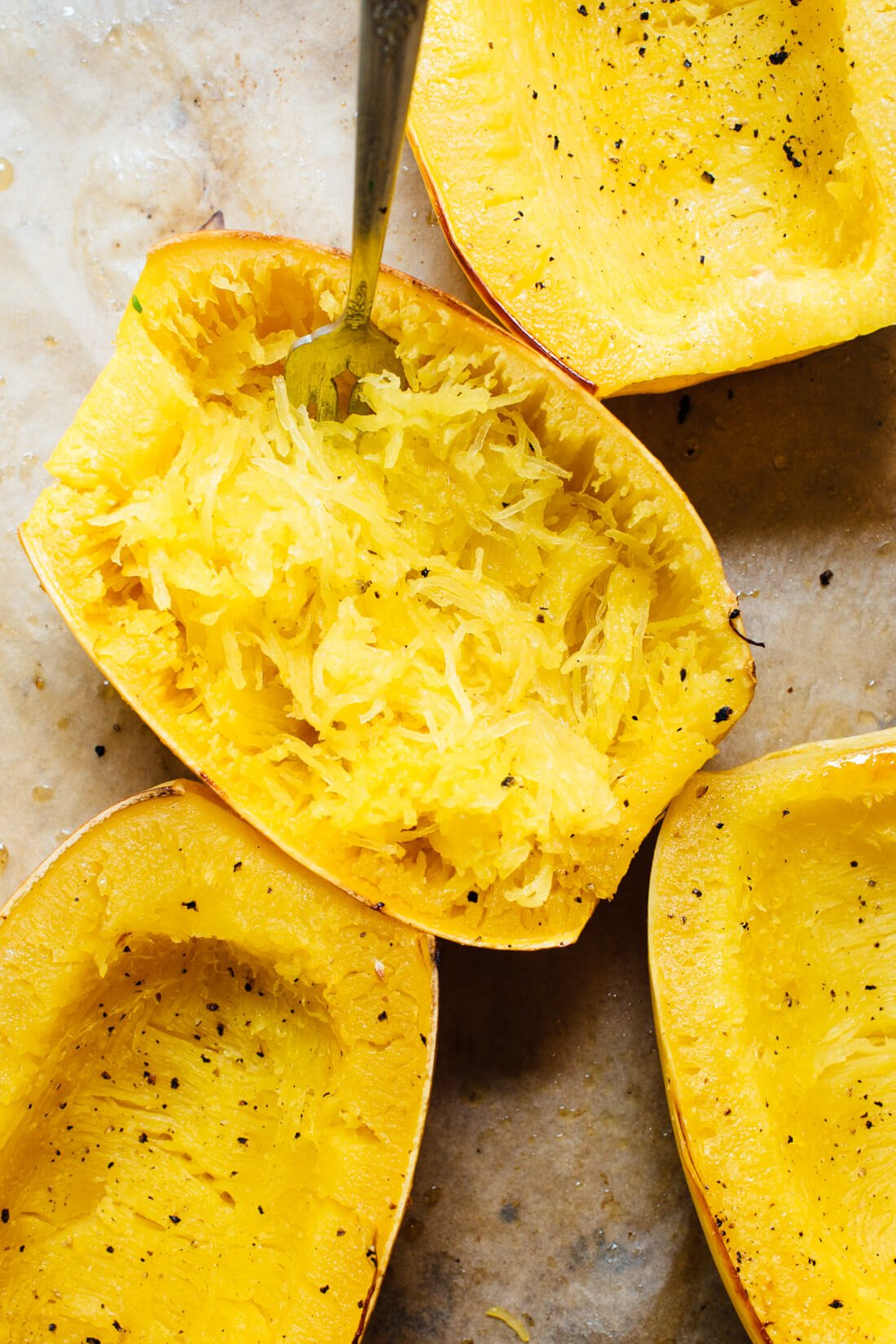 cooked and fluffed spaghetti squash