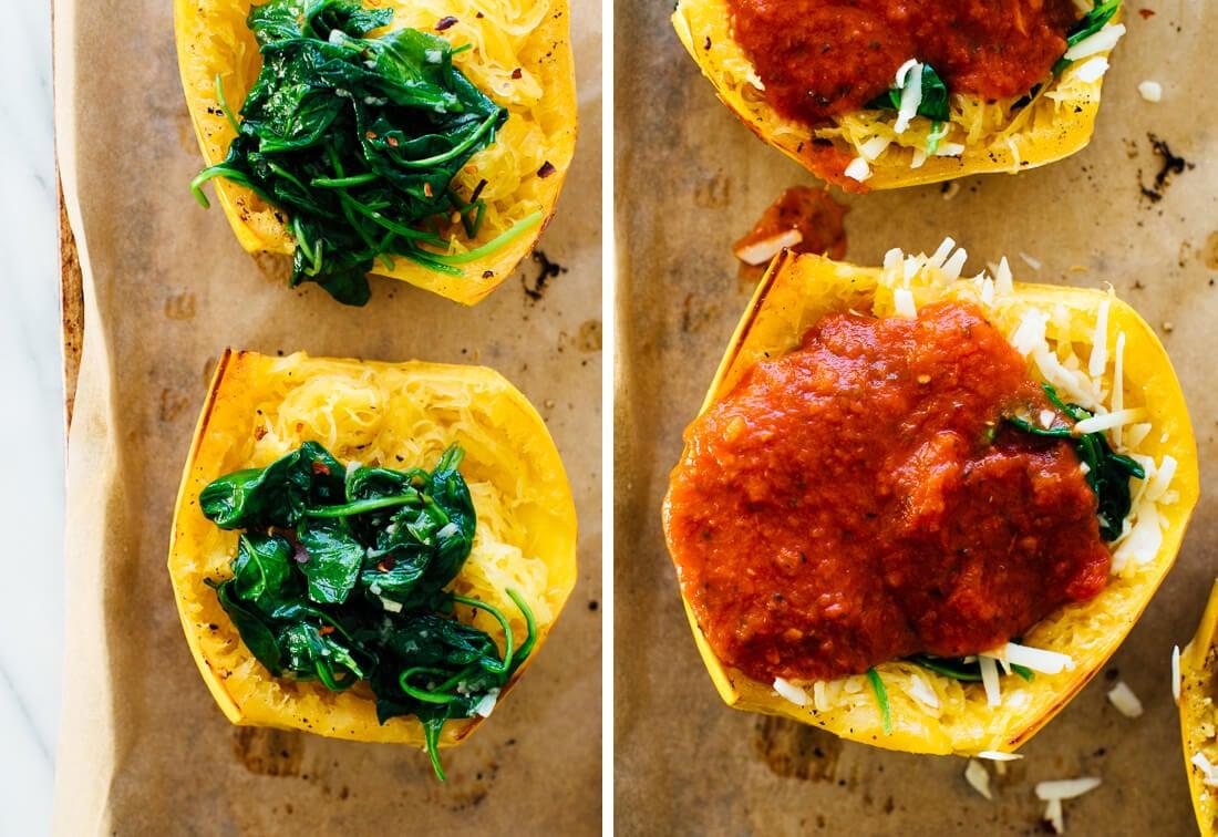 how to make pizza spaghetti squash