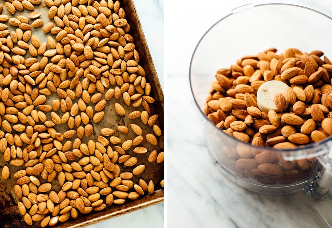 roasted almonds for almond butter