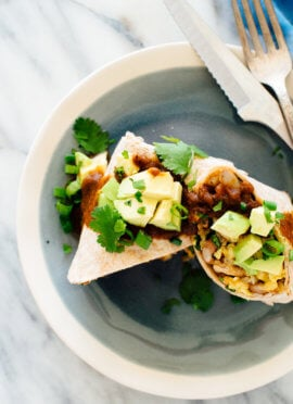 Vegetarian Breakfast Burritos