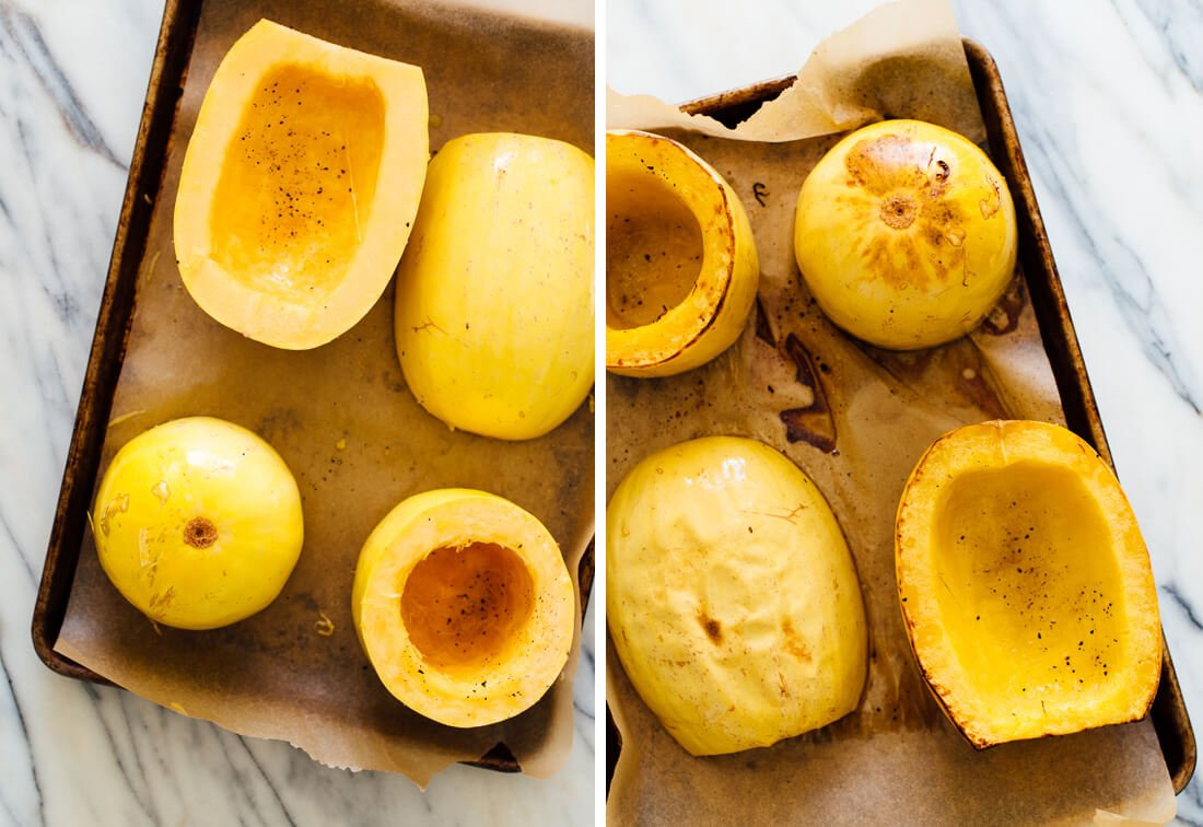 How to cook spaghetti squash the best way cookie and kate for What to make with spaghetti squash