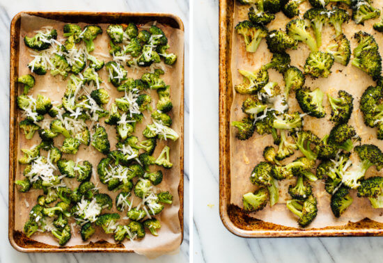 broccoli with Parmesan on top